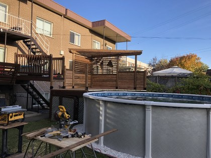 Construction de patio dans Lanaudière - Petit Travaux situé à St-Thomas